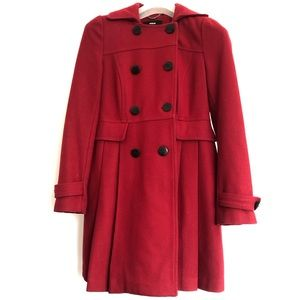 Miss Sixty M60 Pleated Military Style Peacoat